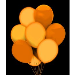 100 Units of LED 14 Inch Balloons - Orange 5 Pack - LED Party Items