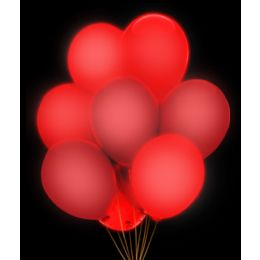 100 Units of LED 14 Inch Balloons - Red 5 Pack