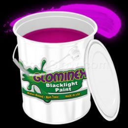 Glominex Blacklight UV Reactive Paint Gallon - Pink - LED Party Items