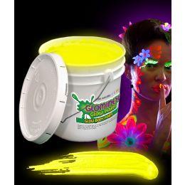 Glominex Glow Body Paint 128oz Bucket - Yellow