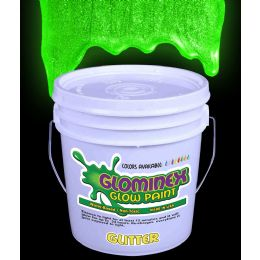 Glominex Glitter Glow Paint Gallon - Green - LED Party Items