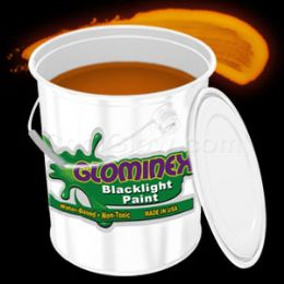 Glominex Blacklight UV Reactive Paint Gallon - Orange - LED Party Items