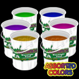 Glominex Blacklight UV Reactive Paint Gallons - Assorted - LED Party Items