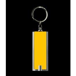 1000 Units of LED Flat Flashlight Key Chain- Yellow - LED Party Items