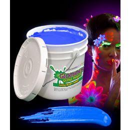 Glominex Glow Body Paint 128oz Bucket - Blue