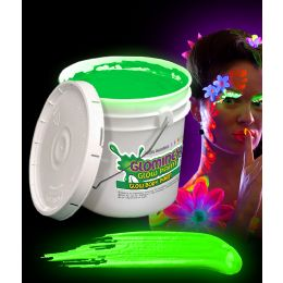 Glominex Glow Body Paint 128oz Bucket - Green - LED Party Items