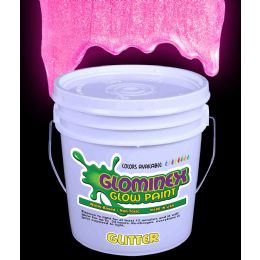 Glominex Glitter Glow Paint Gallon - Pink - LED Party Items