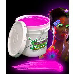 Glominex Glow Body Paint 128oz Bucket - Pink