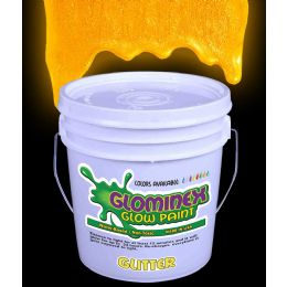 Glominex Glitter Glow Paint Gallon - Orange