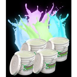 Glominex Glow Paint Gallons - Invisible Day Assorted - LED Party Items
