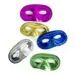 100 Units of Metallic Half Masks - Assorted