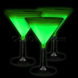 100 Units of Glow Martini Glass - Green