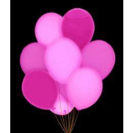 100 Units of LED 14 Inch Balloons - Pink 5 Pack