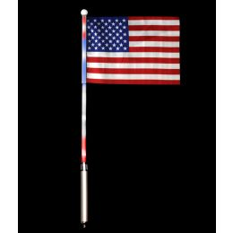 24 Units of LED USA Flag - 6in x 4in - 6ct - LED Party Supplies