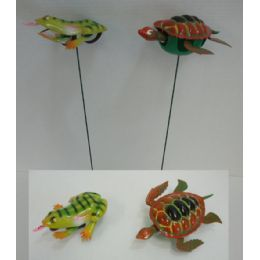 60 Units of Yard Stake [Frog/Turtle] - Wind Spinners