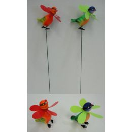 60 Units of Yard Stake [Birds with Pinwheel] - Wind Spinners