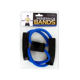 36 Units of Portable Resistance Bands with Foam Handles - Workout Gear