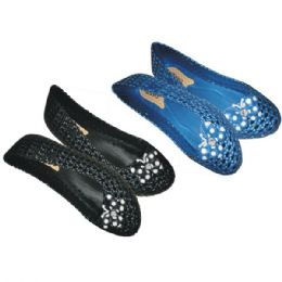 50 Units of Ladies Shoes with Diamond studs Assorted - Women's Flats