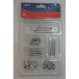 36 Units of Hardware Assortment [Nuts/Bolts/Washers] - Drills and Bits