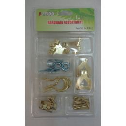 36 Units of Hardware Assortment [picture/cup Hooks] - Hooks