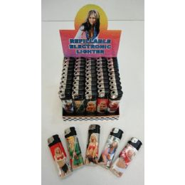 50 Units of Printed Lighters [racing Girls] - Lighters