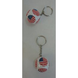 36 Units of Round Key Chain with Flag - Key Chains