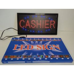3 Units of Light Up Sign-CASHIER - Displays & Fixtures
