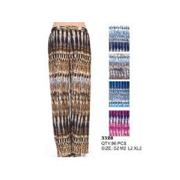 96 Units of Woman's Palazzo Fashion Pants - Womens Pants