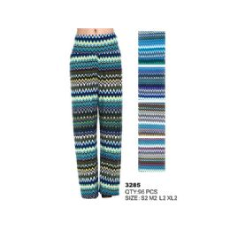 96 Units of WOMAN'S ZIGZAG PRINT PALAZZO PANT - Womens Pants