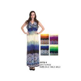 36 Units of Woman's Fashion Long Summer Dress - Womens Sundresses & Fashion