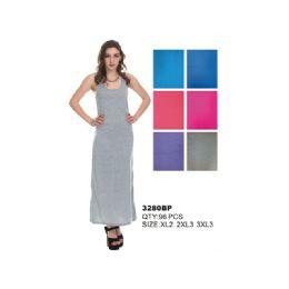 48 Units of WOMAN' S PLUS SIZE JERSEY MAXI DRESS - Womens Sundresses & Fashion