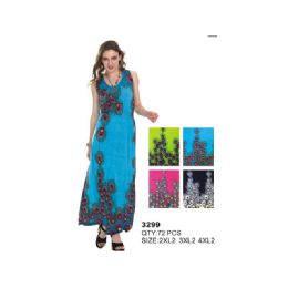 36 Units of WOMAN'S PLUS SIZE MAXI DRESS - Womens Sundresses & Fashion