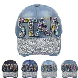 "24 Units of ""star"" Cap - Hats With Sayings"