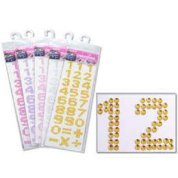 48 Units of Crystal Sticker Letter - Tattoos and Stickers