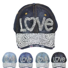 "24 Units of ""love"" Cap - Hats With Sayings"