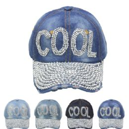 "24 Units of "" Cool"" Cap - Hats With Sayings"