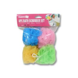 120 Units of 4 Piece Bath Sponge - Bath And Body