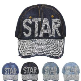 24 Units of Cap With Stars - Hats With Sayings