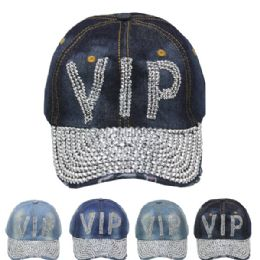 "24 Units of ""vip"" Printed Cap - Hats With Sayings"