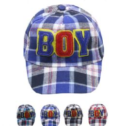 "72 Units of ""boy"" Kid Summer Hat - Hats With Sayings"