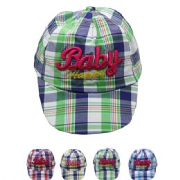 "72 Units of ""baby"" Kid Summer Hat In Assorted Colors - Hats With Sayings"