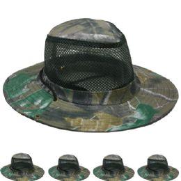 24 Units of Men's Netted Boonie Hat - Cowboy & Boonie Hat