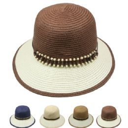 24 Units of Women's Summer Hat Two Toned - Sun Hats