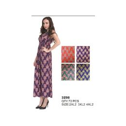 36 Units of PLUS SIZE MAXI DRESS - Womens Sundresses & Fashion