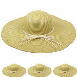 24 Units of Women's Straw Summer Hat - Sun Hats
