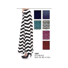 48 Units of COTTON MAXI SKIRT STRIPED - Womens Skirts