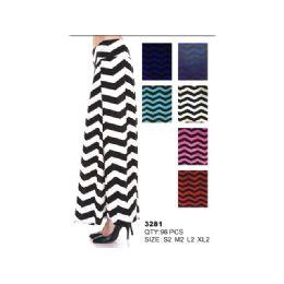 48 Units of Cotton Maxi Skirt Striped - Womens Skirts