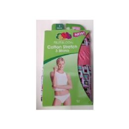 72 Units of 3-Pack Fruit of the Loom Ladies Small Sized Panties (Assorted colors / size 5-9) - Womens Panties & Underwear