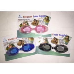 72 Units of Swimming Goggles With Ear Plugs And Nose Plugs - Summer Toys