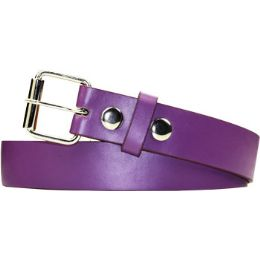 72 Units of Kids Belt In Purple - Unisex Fashion Belts